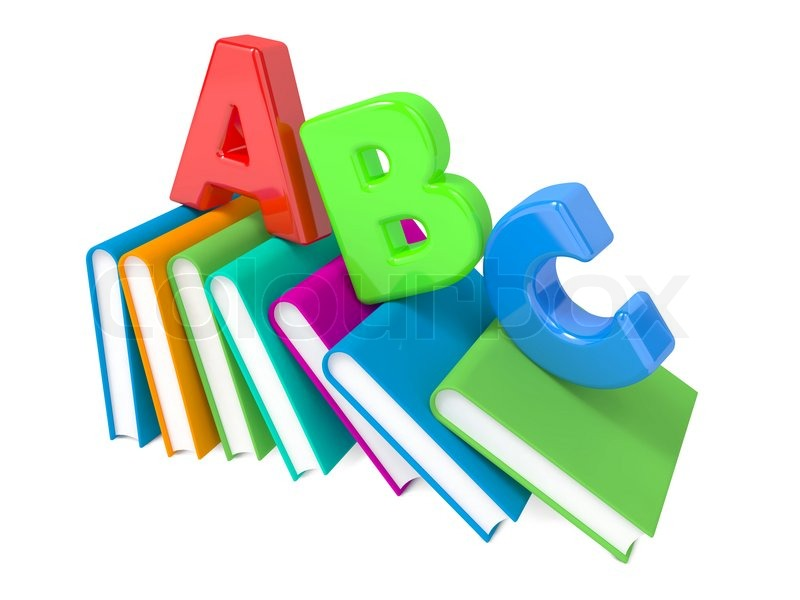 Abc Letters With Group Of Books   Stock Photo   Colourbox
