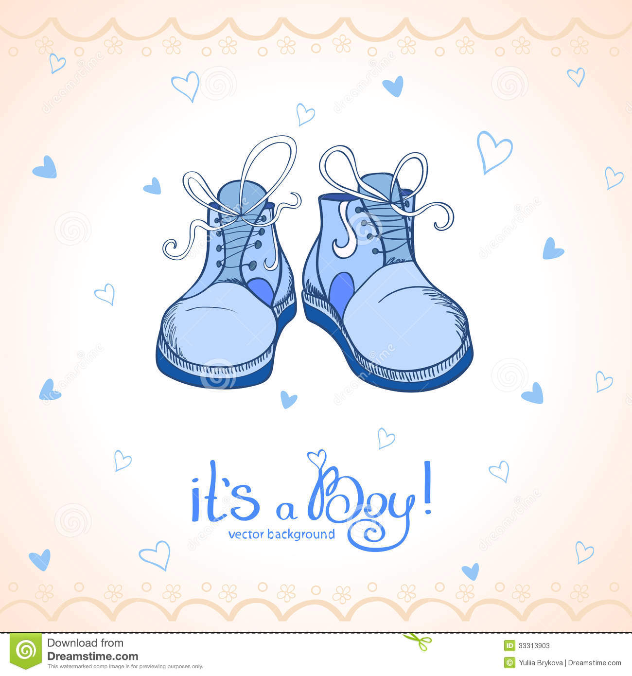Blue Baby Booties Clipart Boy Shoes Stock Photos