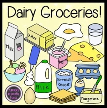 Dairy Clip Art Dairy Groceries Food Clip Art