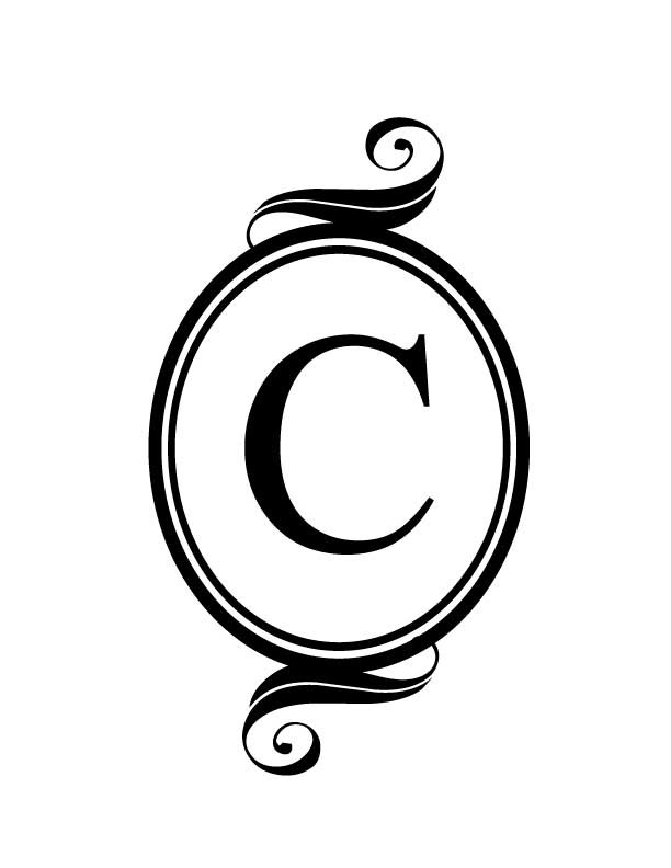 C monogram clipart clipart suggest for Free monogram template