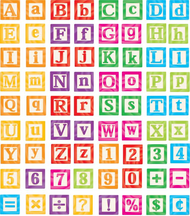 Pin Abc Blocks Clip Art On Pinterest
