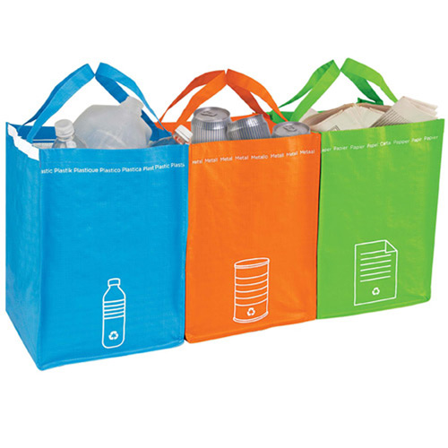 Recycling Bin Tote Set   Personalized Tote Bags   9 41 Ea