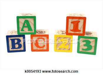 Stock Photo Of Abc 123 Blocks K0054193   Search Stock Images Poster