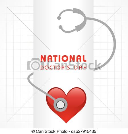 Vecteur   National Doctor S Day Greeting   Banque D Illustrations