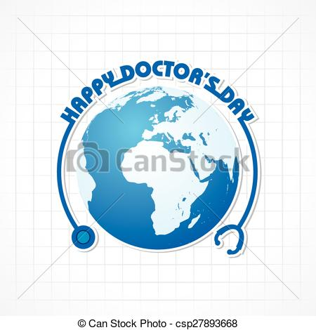 Vector   National Doctor S Day Greeting   Stock De Ilustracion