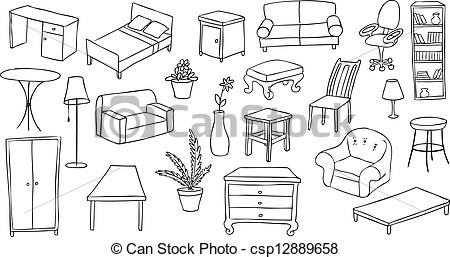 Clip Art Furniture Clip Art clip art house furniture clipart kid icon stock icons logo line eps picture