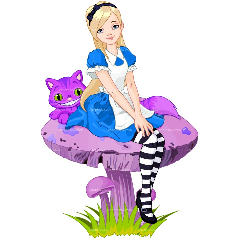 Clipart Alice In Wonderland   Royalty Free Vector Design