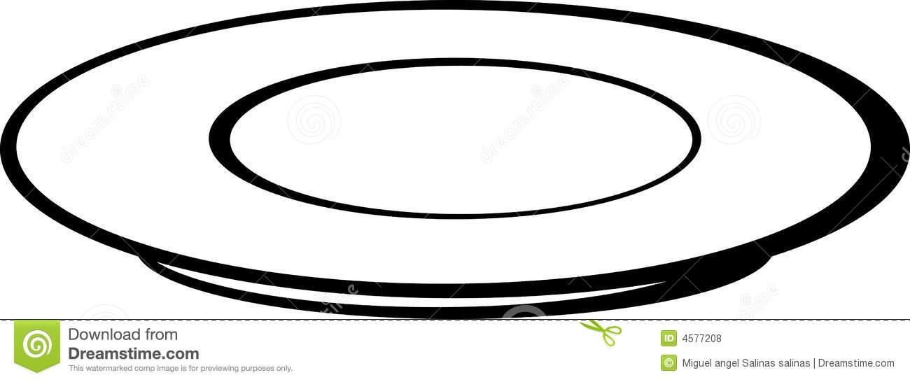 Empty Plate Clipart - Clipart Kid