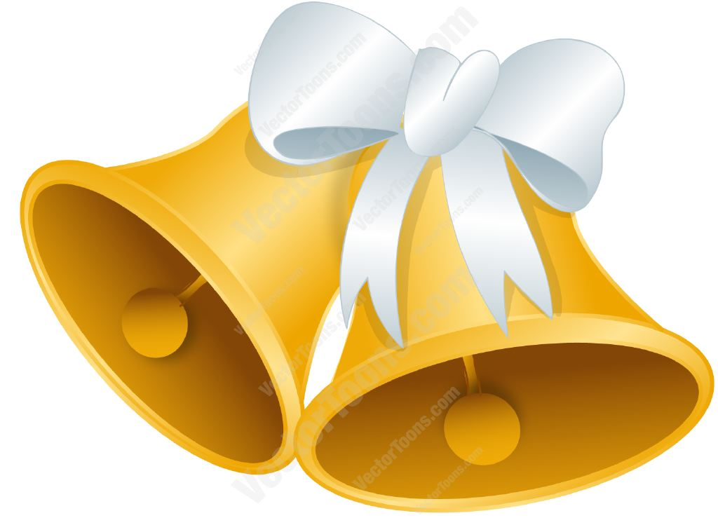 Gold Wedding Bell Clipart - Clipart Kid