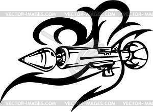Gun Tribal Tattoo   Vector Clipart   Vector Image