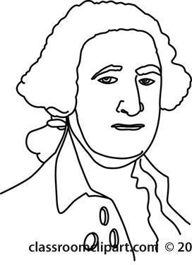 History   George Washington President 11 Outline   Classroom Clipart