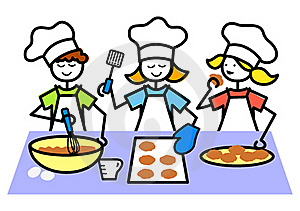 Kids Cooking Clipart Kids Cooking Clipartcartoon Kids Baking