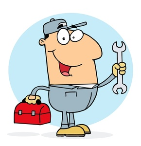 Mechanic Clipart Image   Auto Mechanic Holding A Wrench And Tools