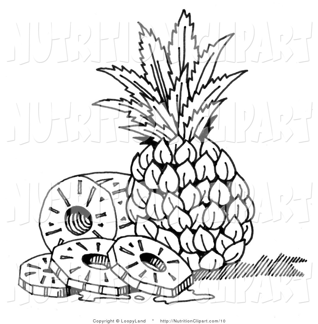 Pineapple Black And White Clipart - Clipart Suggest