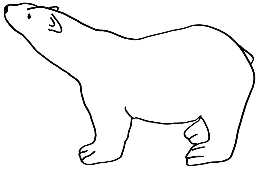 winter polar bear winter polar bear polar bear coloring pages