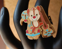 Chip And Dale The Chipmunk Disney Ring Jewelry And Disney Upcycled Pin