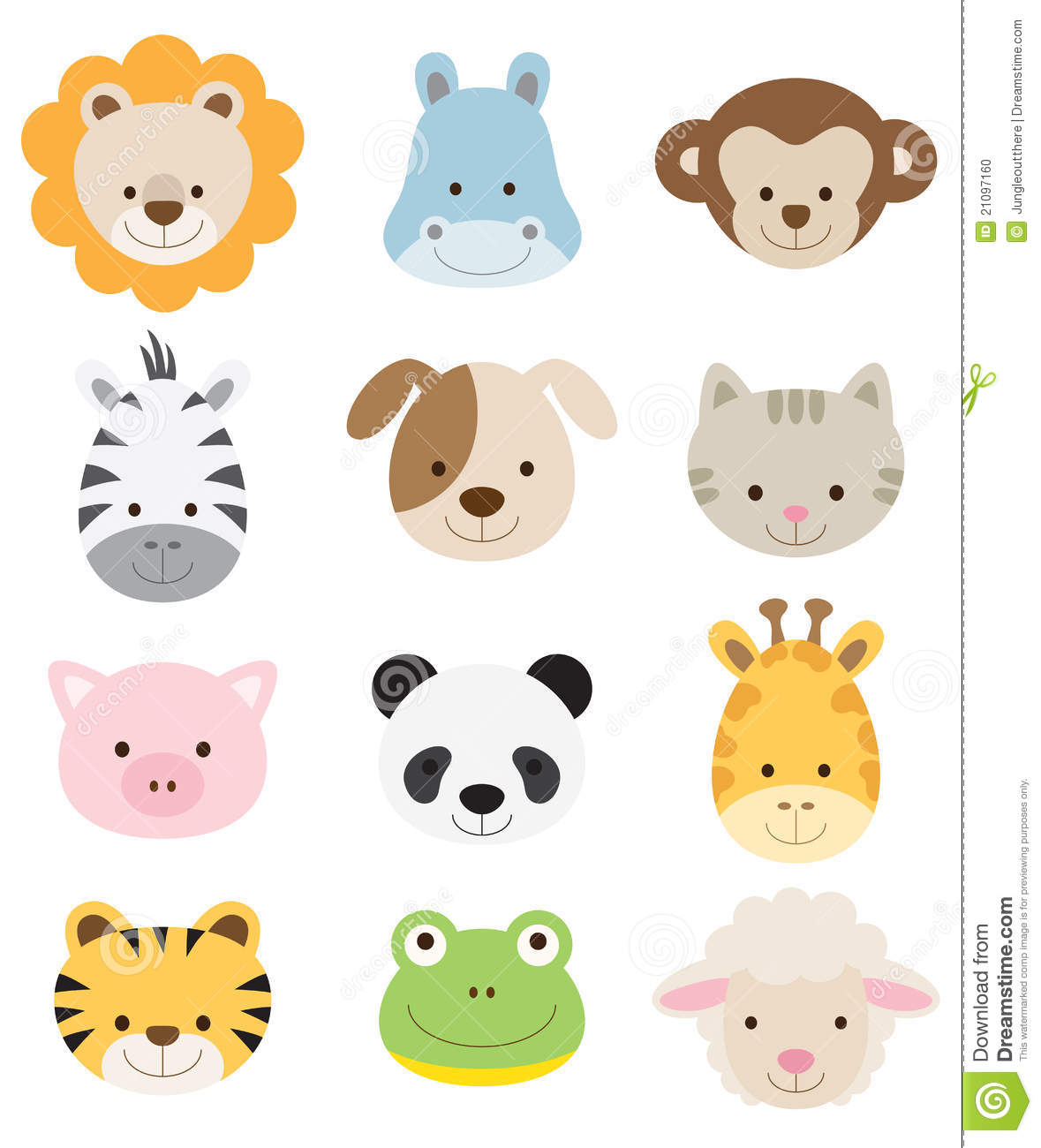 Clip Art Baby Animals Baby Animal Faces