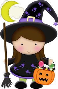 Cute Halloween Witch Clipart - Clipart Suggest