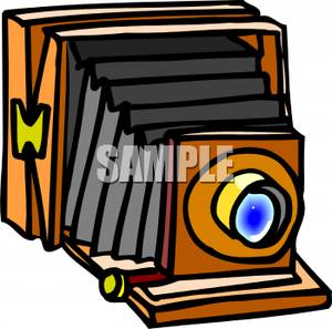 Clipart Image Of An Old Fashioned Camera