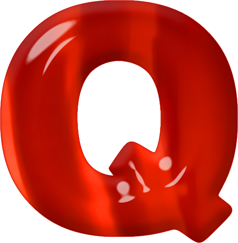 Etc Home Alphabets Themed Letters Red Glass Letter Q Site Map