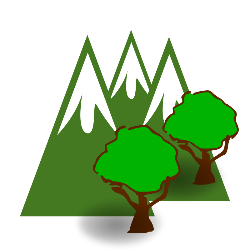 Green Mountain Clipart Clipart Forested Mountains