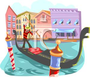 Italian Gondola Driver   Royalty Free Clipart Picture