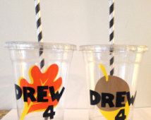Mickey Clubhouse Chip N Dale  Fall Party Cups With Straw And Lid