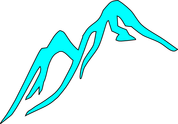 Mountain Tops Covered With Ice Clip Art   Vector Clip Art Online