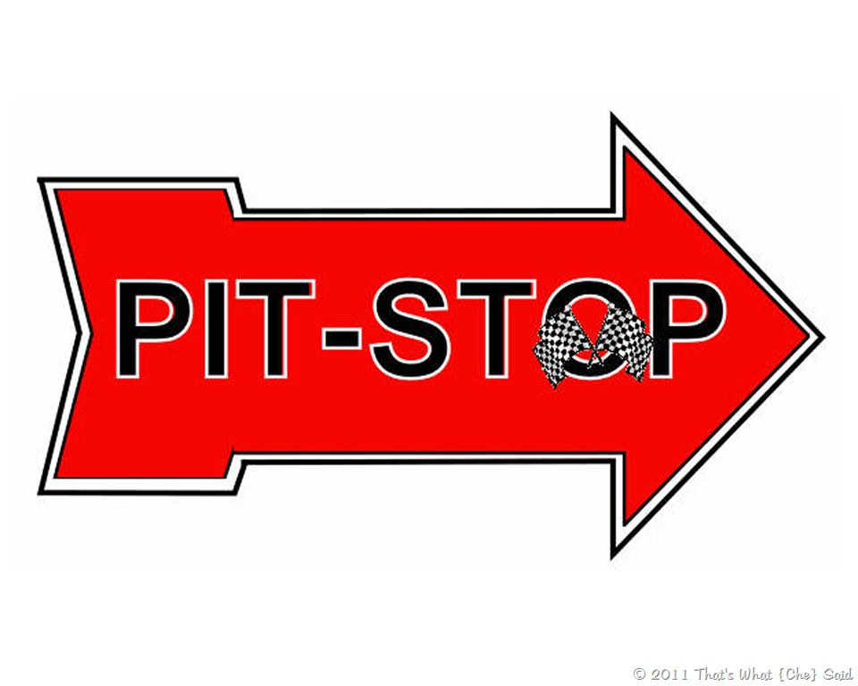 Pit Stop Sign Clipart