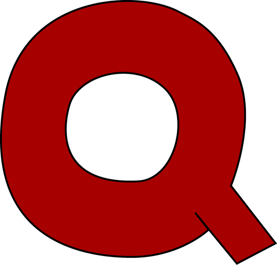 Red Letter Q Clip Art Image   Large Red Capital Letter Q