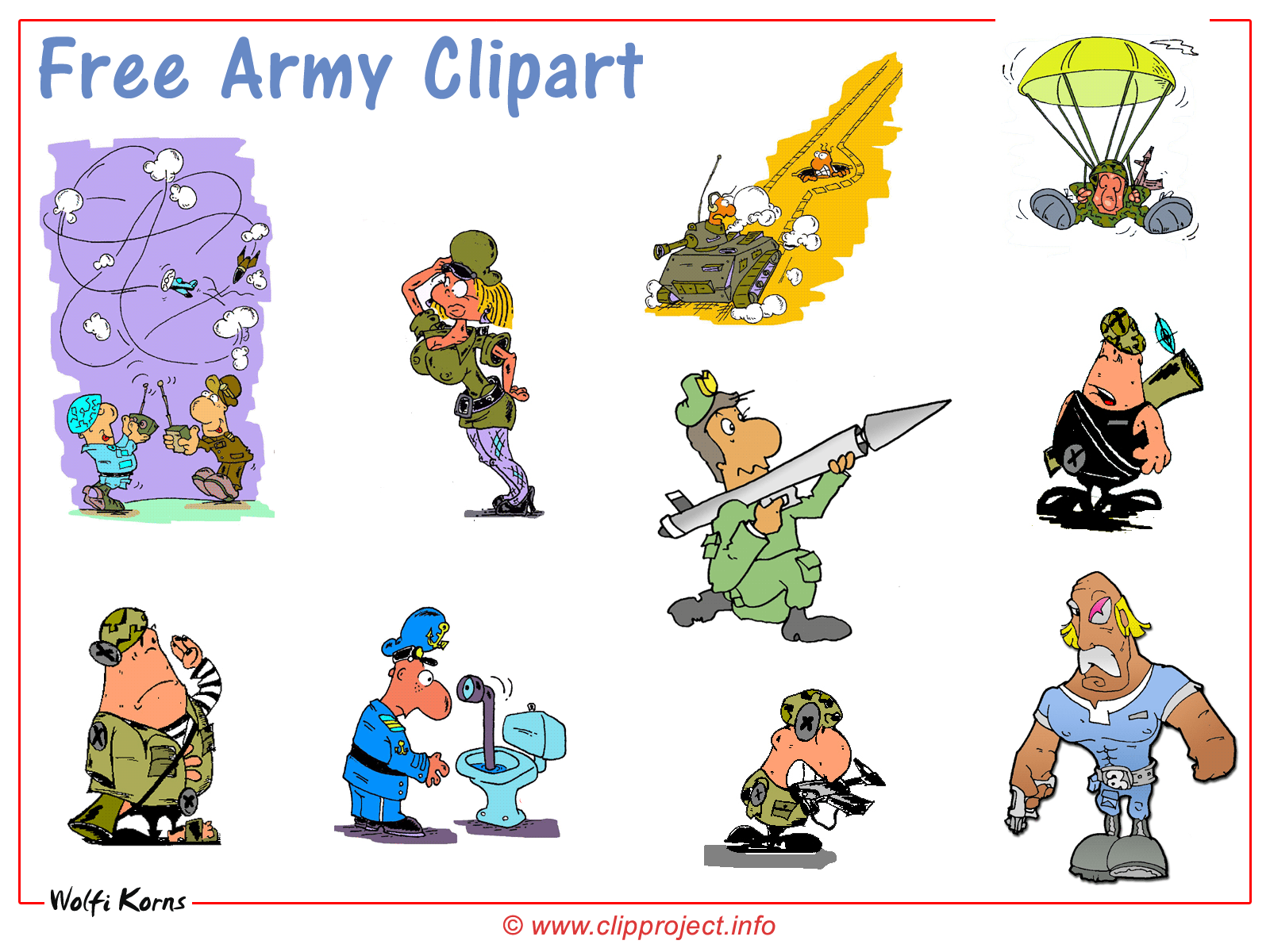 Funny Military Clipart - Clipart Kid