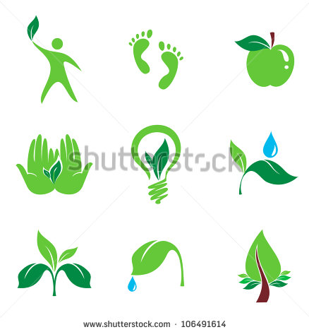 And Organic Vector Icons Bio And Environment Set Of Nature And Organic