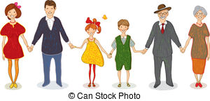 Big Family Illustrations And Clipart  1639 Big Family Royalty Free