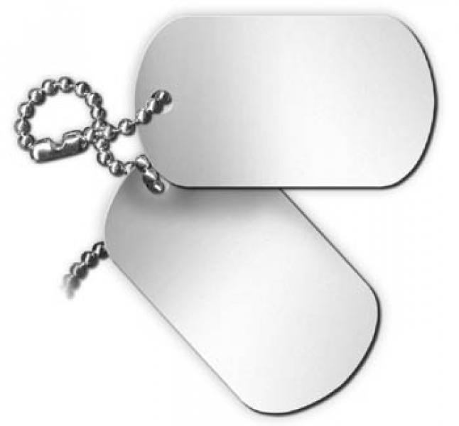 Blank Dog Tags Png Blank Pewter Dog Tag8 50