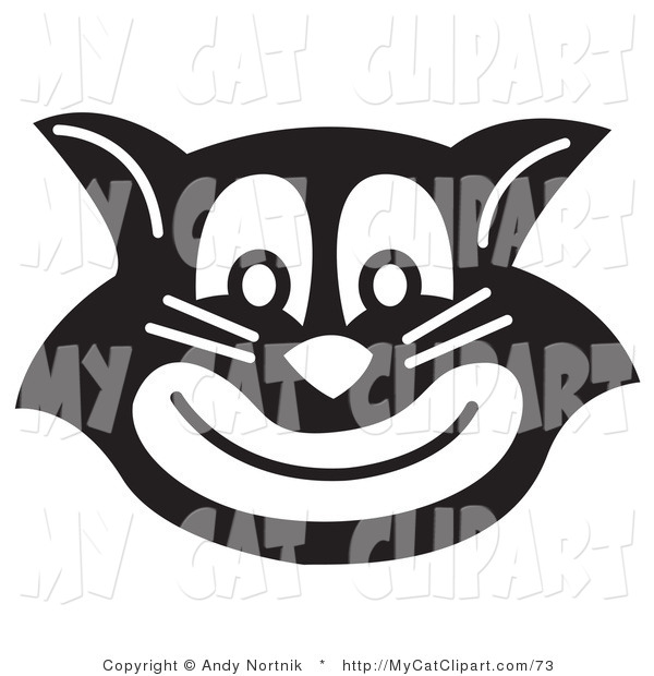 Clip Art Of An Evil Black Cat Smiling By Andy Nortnik    73