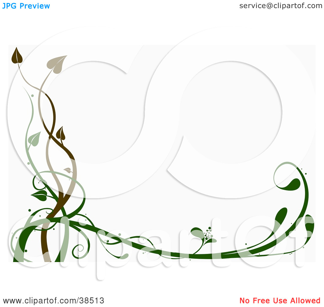 Clipart Illustration Of A White Background Bordered With Brown And