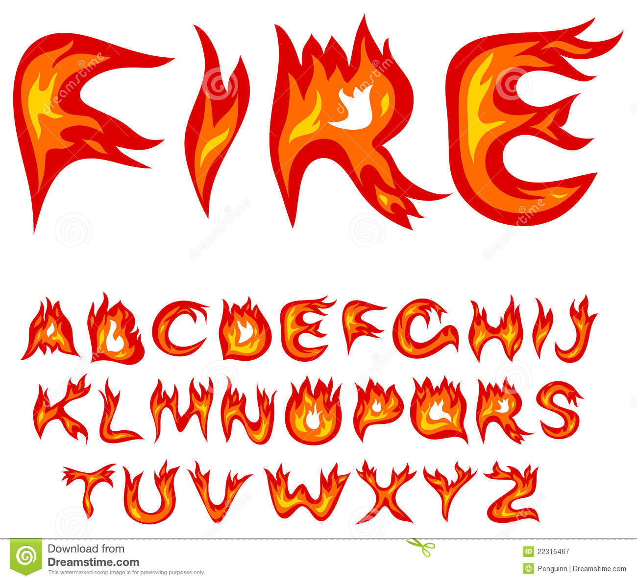 Flame Alphabet Royalty Free Stock Photography   Image  22316467
