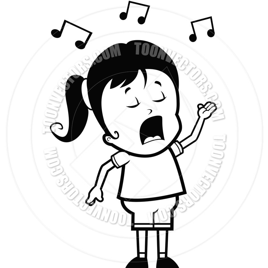 Female Singer Black And White Clipart - Clipart Kid