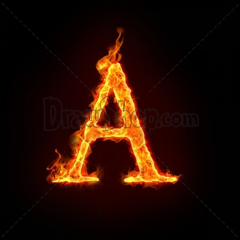 Graphic From Drawshop Fire Alphabets In Flame Letter A 22773 35 Jpg