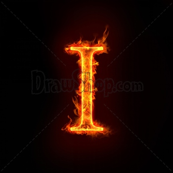 Graphic From Drawshop Fire Alphabets In Flame Letter I 22781 35 Jpg