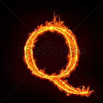Graphic From Drawshop Fire Alphabets In Flame Letter Q 22789 35 Jpg