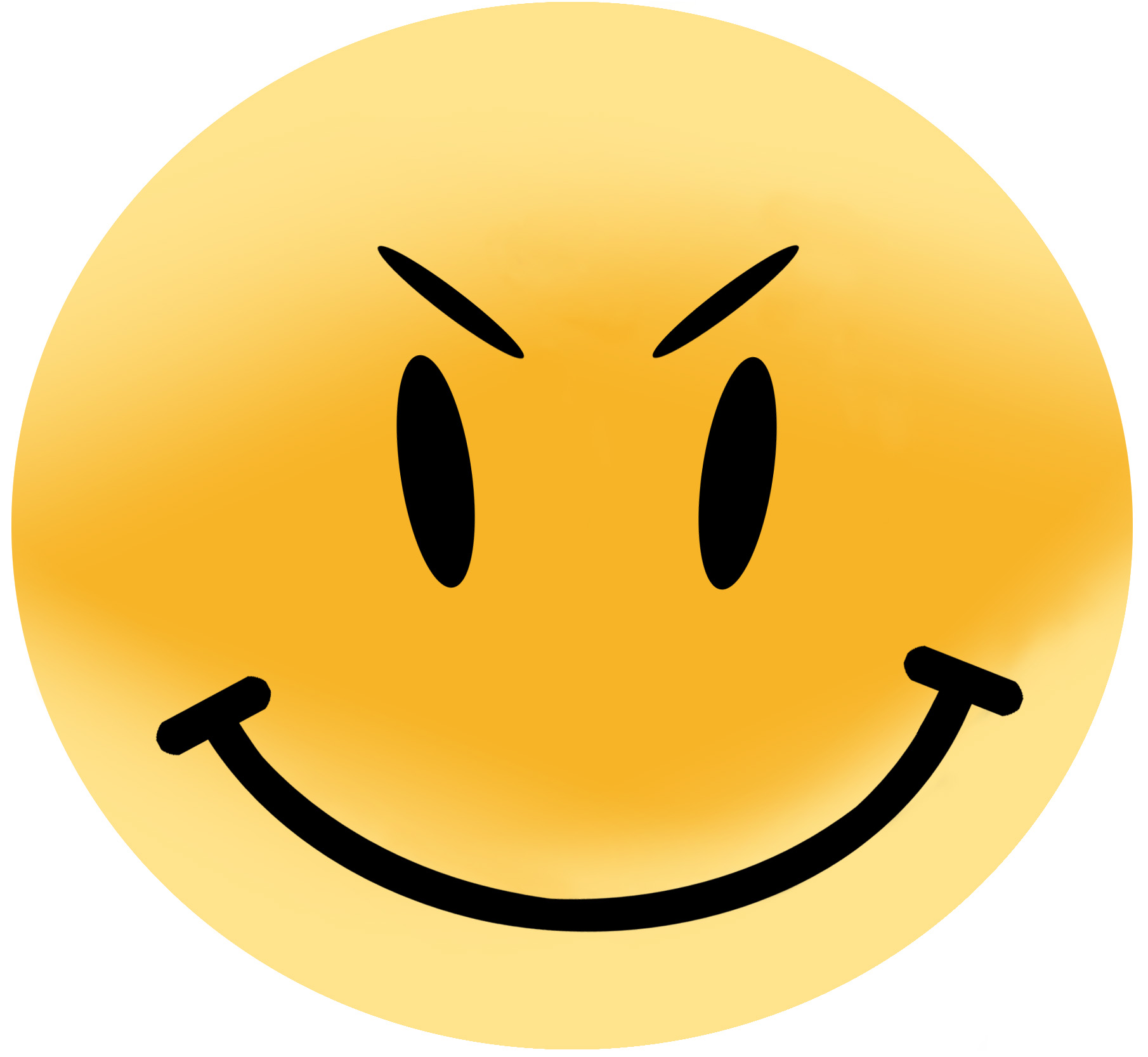 High Res Evil Smiley Face White Background  1810x1666