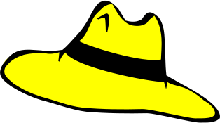 Yellow Hat Clipart Adventure Hat Yellow