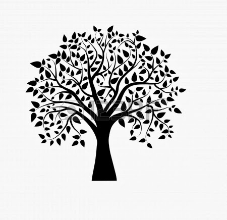 18392402 Vector Tree In Black And White Jpg