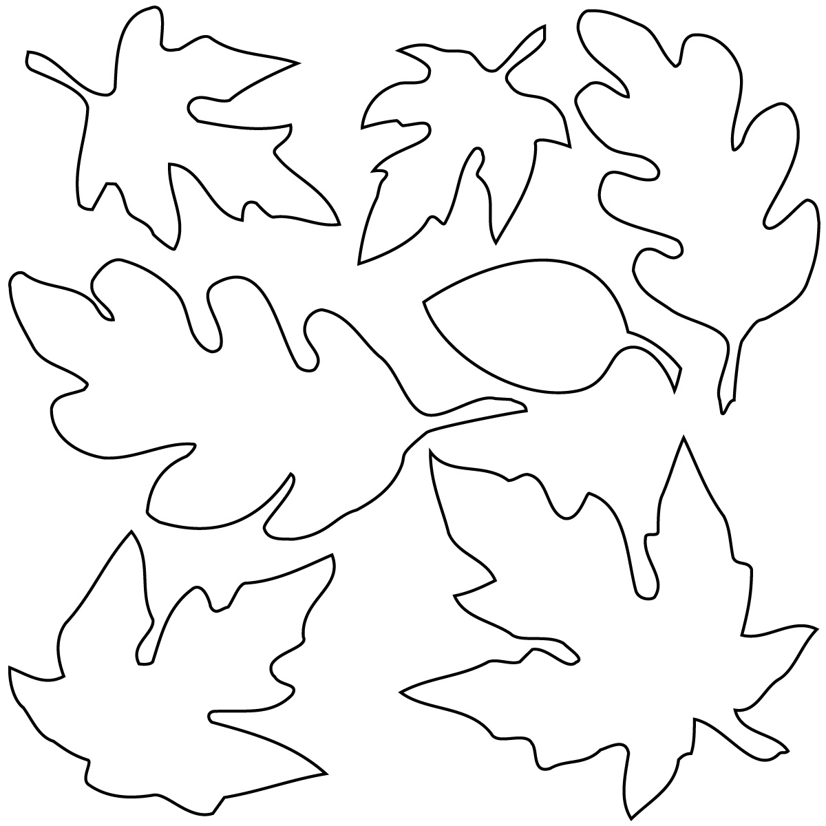 Autumn Leaves Clip Art Black And White   T O N   Cliparts Co