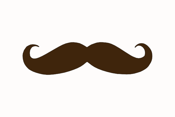 Brown Mustache Clip Art At Clker Com   Vector Clip Art Online Royalty