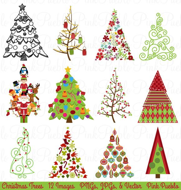 Check Out Christmas Tree Clipart And Vectors By Pinkpueblo On Creative
