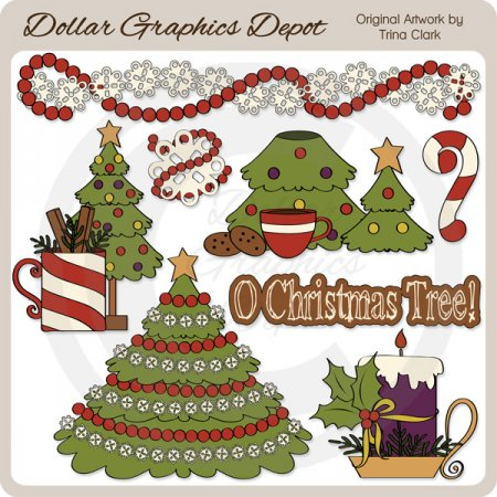 Christmas Tree 2   Clip Art    1 00   Dollar Graphics Depot Quality