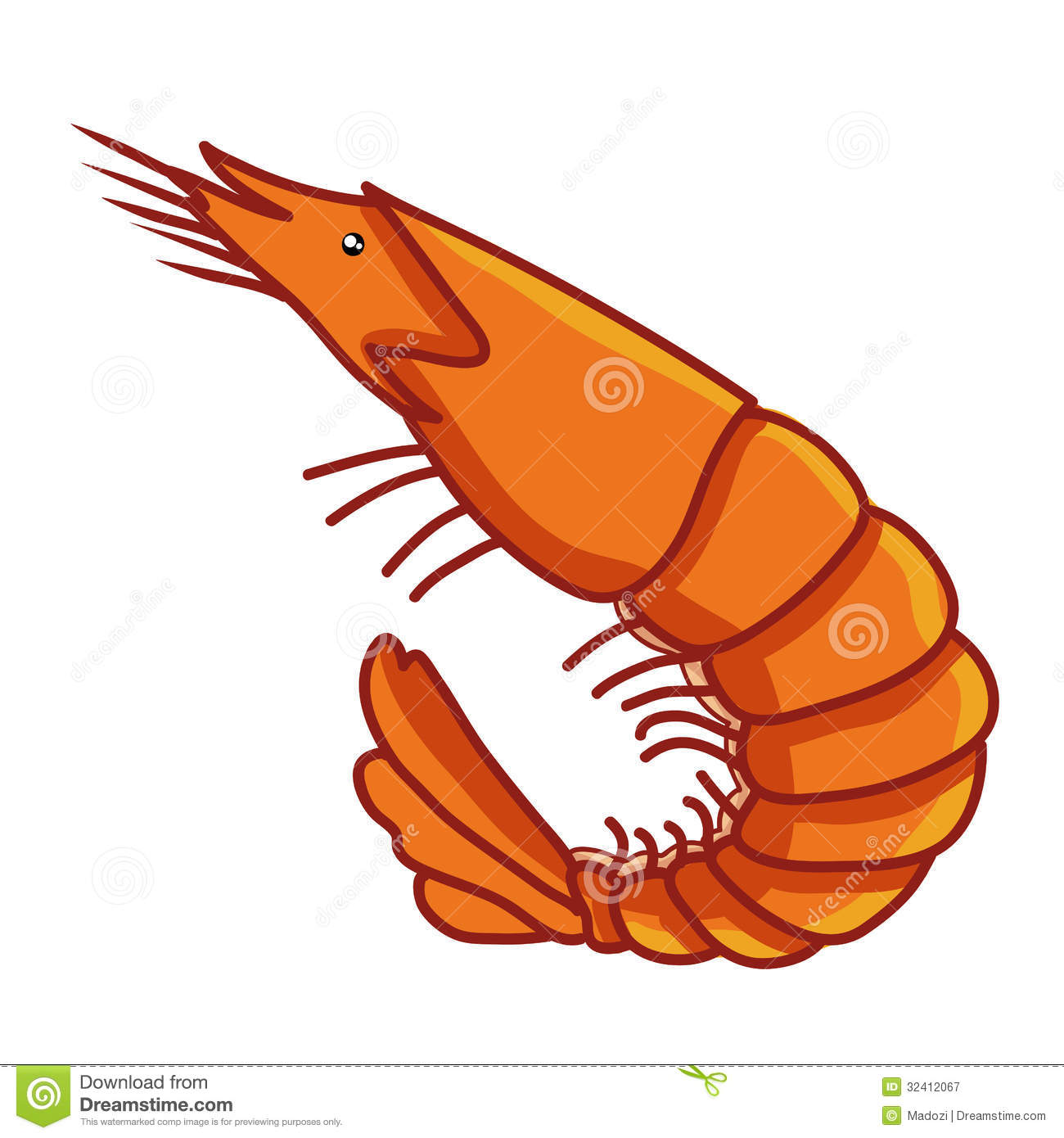 Cook Clipart Cooked Shrimp Clipart