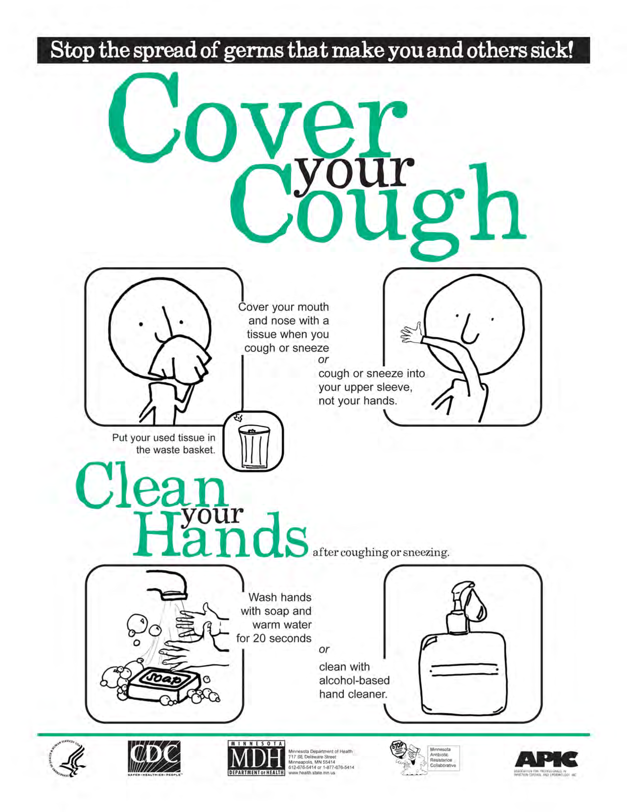 Cover Your Cough Poster English By Benbenzhou